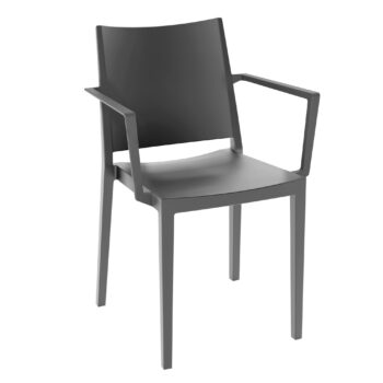 14140410-stapelstoel-elegance-met-armleuning-grijs