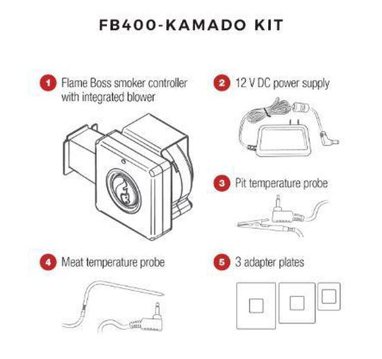 Flame Boss 400 kamado smoker controller 4