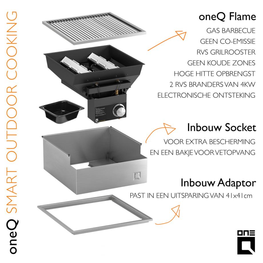 oneQ Flame inbouw set